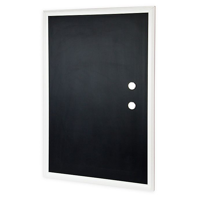 Alternate image 1 for Wood-Framed Magnetic Chalkboard with Magnets