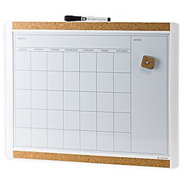 Pin-It Magnetic Dry Erase Calendar Board in White