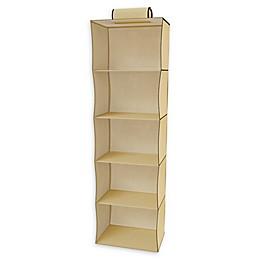 Lavish Home 5-Shelf Hanging Closet Organizer in Yellow