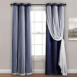 Grommet Sheer/Room Darkening Lined Window Curtain Panel Pair