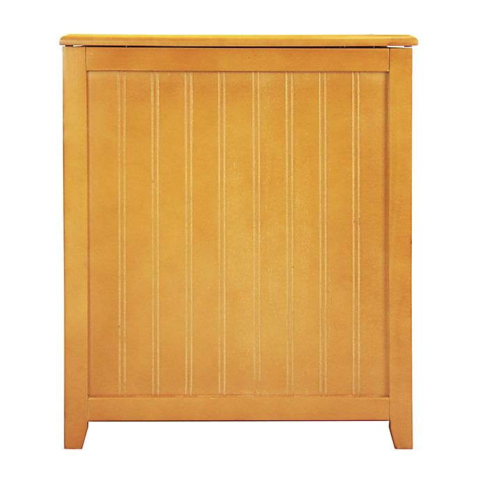 Alternate image 1 for Oceanstar Rectangular Front Wood Laundry Hampers