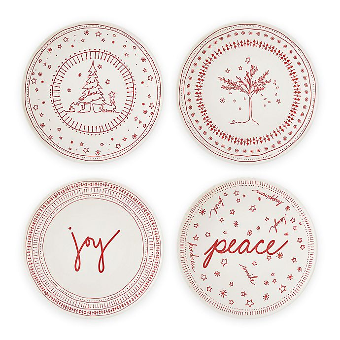 Alternate image 1 for ED Ellen DeGeneres Crafted by Royal Doulton® Holiday 6-Inch Accent Plates (Set of 4)
