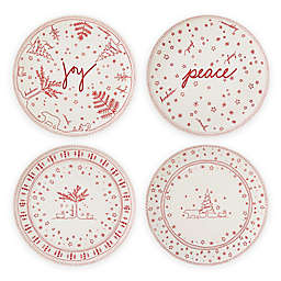 ED Ellen DeGeneres Crafted by Royal Doulton® Holiday 8-Inch Accent Plates (Set of 4)