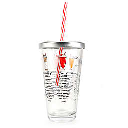 Kikkerland® Milkshake Recipe Glass
