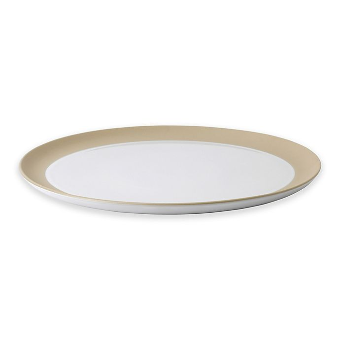 Alternate image 1 for ED Ellen DeGeneres Crafted by Royal Doulton® Taupe Border 13-Inch Round Platter