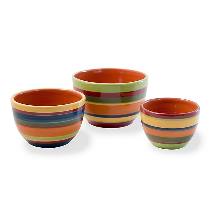 Alternate image 1 for Boston International Ala Fiesta Multicolor Bowls (Set of 3)
