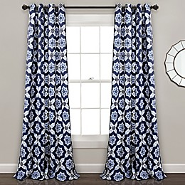 Venus Medallion 84-Inch Grommet Room Darkening Window Curtain Panel Pair