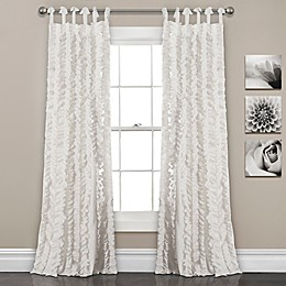 Sophia Ruffle Tie Top Window Curtain Panel Pair