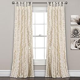 Sophia Ruffle Tie Top Window Curtain Panel Pair