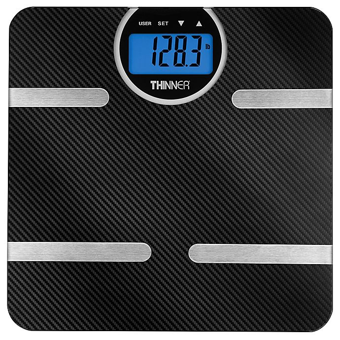 Alternate image 1 for Thinner© by Conair™ Carbon Fiber Body Analysis Scale