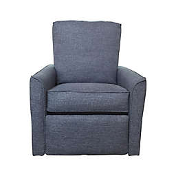 The 1st Chair™ Keeton Swivel Glider Recliner in Iris Indigo
