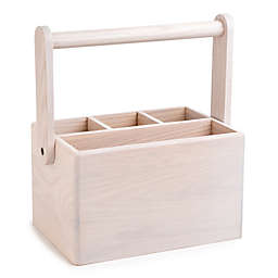 Medici Wood Cutlery Caddy in White Wash