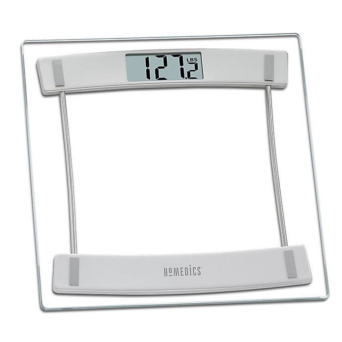 Homedics 174 Glass Digital Bathroom Scale 405 Bed Bath And