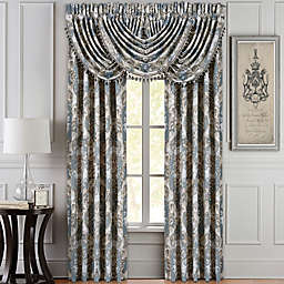 J. Queen New York 2-Pack 84-Inch Crystal Palace Window Curtain Panels in French Blue