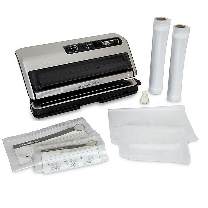 Alternate image 1 for FoodSaver® FM5330 Food Preservation System in Brushed Aluminum