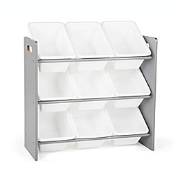 Tot Tutors Kids Toy Storage Organizer in Grey/White