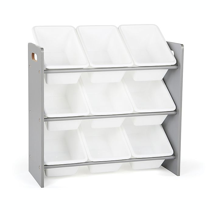 Alternate image 1 for Tot Tutors Kids Toy Storage Organizer in Grey/White
