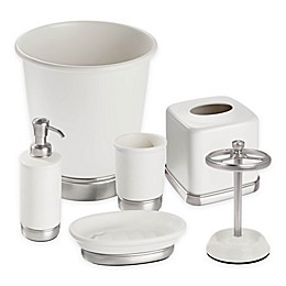 InterDesign® York Bathroom Collection in Ivory/Brushed Nickel