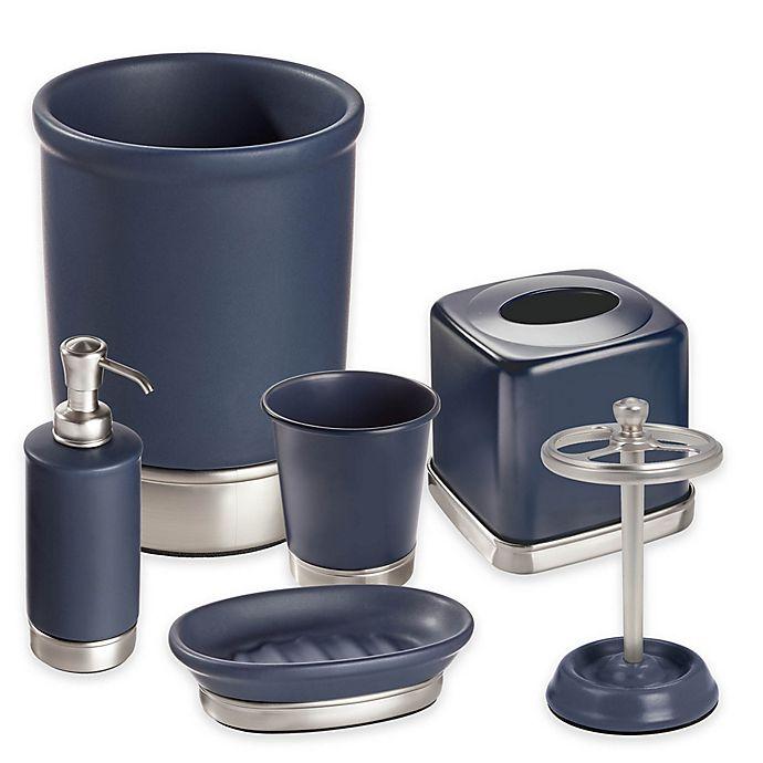 InterDesign® York Bathroom Collection in Navy/Brushed ...