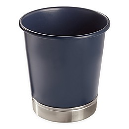 InterDesign® York Waste Can in Navy/Brushed Nickel