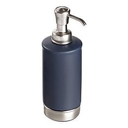 InterDesign® York Soap Pump in Navy/Brushed Nickel