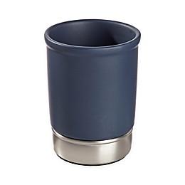 InterDesign® York Tumbler in Navy/Brushed Nickel