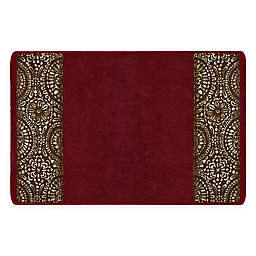 "Popular Bath Cascade 21"" x 32"" Bath Rug in Burgundy"