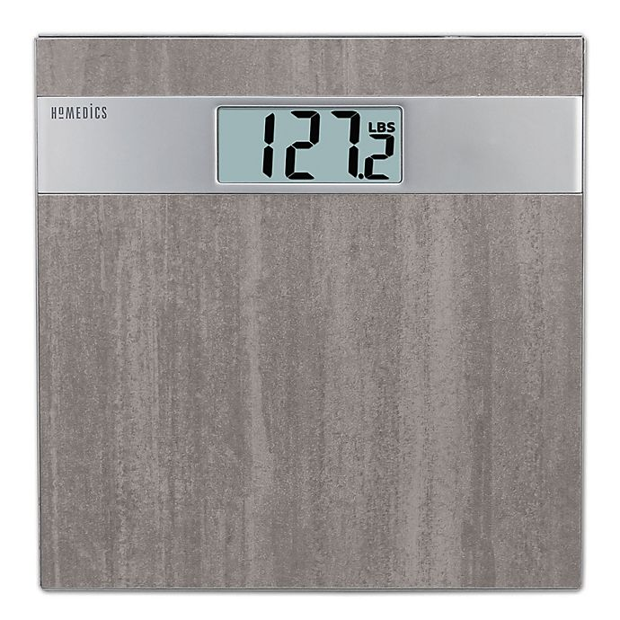Alternate image 1 for HoMedics® Grey Stone Digital Bath Scale