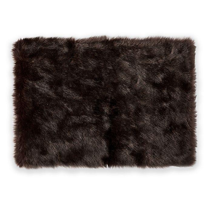 """Nordic 24"""" X 36"""" Faux Fur Bath Rug"""