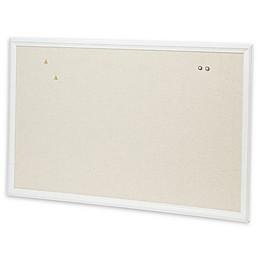 U Brands™ Wood Framed Linen Bulletin Board in White