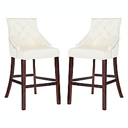 Safavieh Eleni Tufted Wingback Bar Stools (Set of 2)