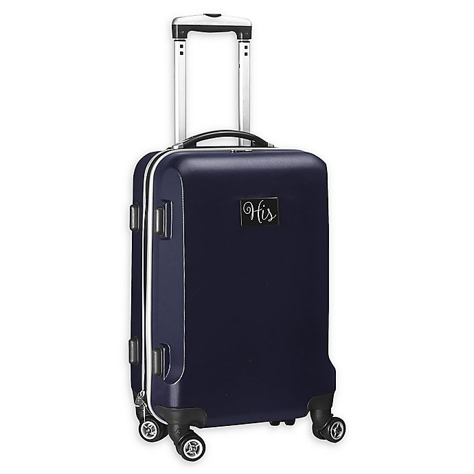 """Alternate image 1 for Denco """"His"""" Hardside 21-Inch Spinner Carry On Luggage in Navy"""