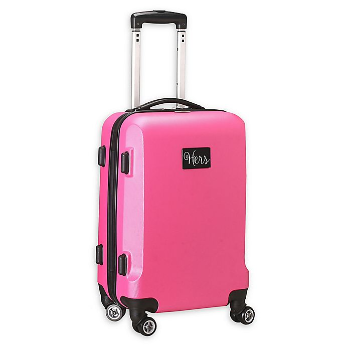 "Alternate image 1 for Denco ""Hers"" Hardside 21-Inch Spinner Carry On Luggage in Pink"