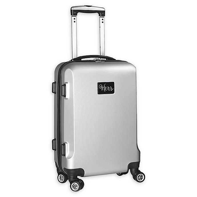"""Alternate image 1 for Denco """"Hers"""" Hardside 21-Inch Spinner Carry On Luggage in Silver"""