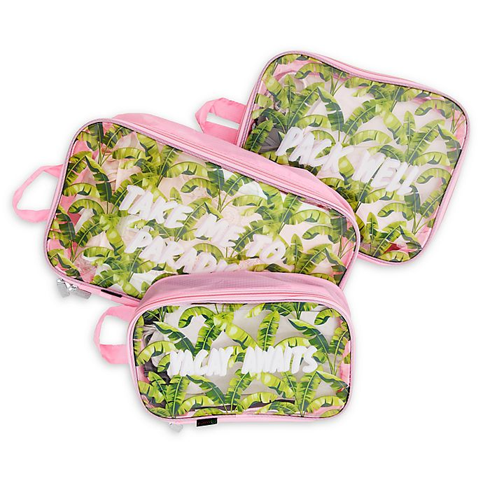Alternate image 1 for Miamica® Palm 3-Piece Packing Cube Set