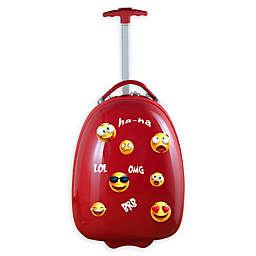 Mojo Emoji Kids Pod 18-Inch Hardside Carry On Luggage in Red