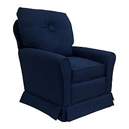 The 1st Chair Tate Glider Chair in Royal Sea