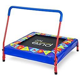 Pure Fun Preschool 3-Foot Jumper Kids Trampoline with Handrail