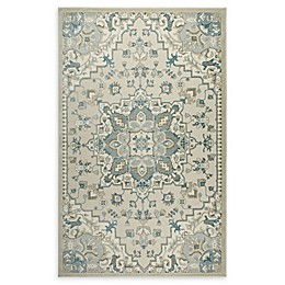Shabby Chic Chandler Power-Loomed Rug in Ivory/Blue