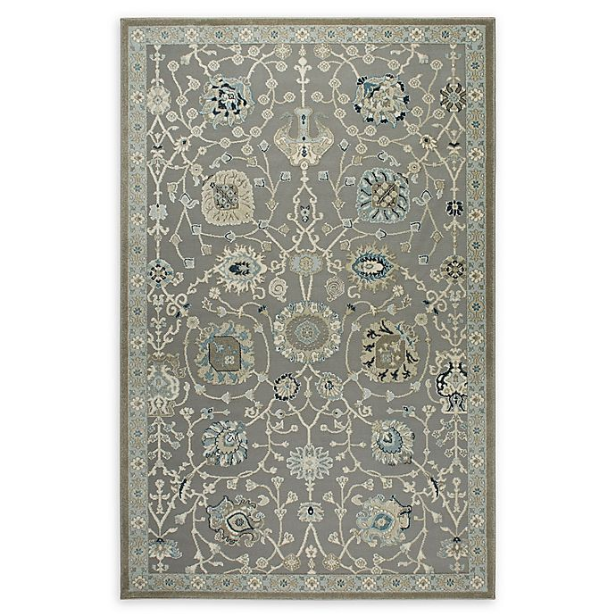 Alternate image 1 for Shabby Chic Chandler 7'10 x 10'2 Power-Loomed Area Rug in Grey/Blue