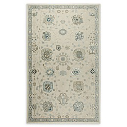 Shabby Chic Chandler Medallion Power-Loomed Rug in Ivory/Blue