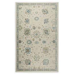 Shabby Chic Chandler Medallion 7'10 x 10'2 Power-Loomed Area Rug in Ivory/Blue