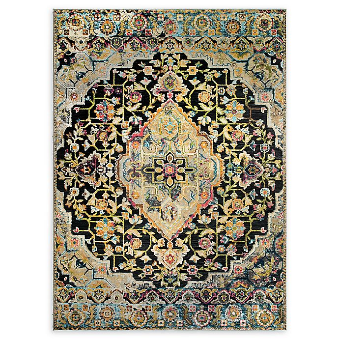 Alternate image 1 for Home Dynamix Shabby Chic Fiesta 5'2 x 7'2 Area Rug in Dark Grey/Yellow/Pink/Blue