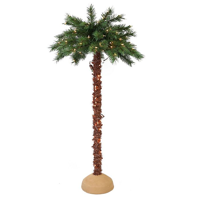 Alternate image 1 for Puleo International Pre-Lit Artificial Palm Tree