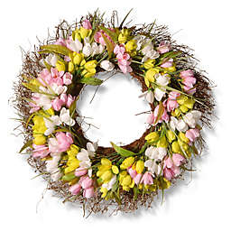 National Tree Company® 21-Inch Artificial Tulip Wreath