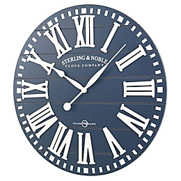 Sterling & Noble 29-Inch Rustic Wood Farmhouse Clock