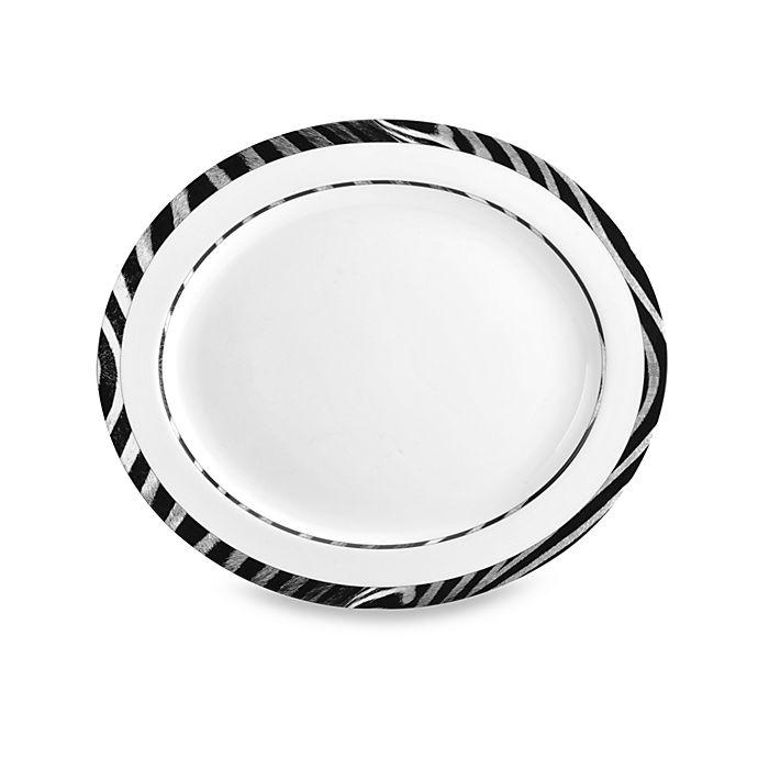 Alternate image 1 for Mikasa® Wild Zebra 15-Inch x 13-Inch Oval Platter