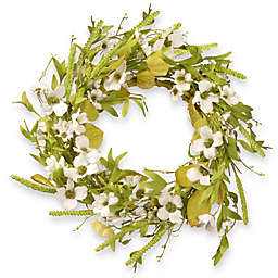 National Tree Company® 22-Inch Dogwood Artificial Wreath in White