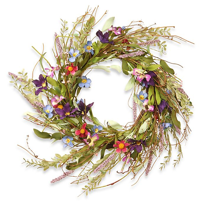 Alternate image 1 for National Tree Company® 20-Inch Floral Artificial Wreath