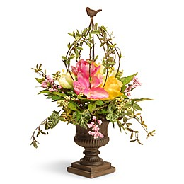 National Tree Company® 25-Inch Artificial Spring Floral Topiary Arrangement in Pink